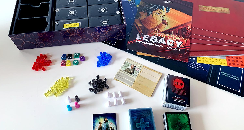 Pandemic Legacy: inhoud van de doos (geen spoilers)