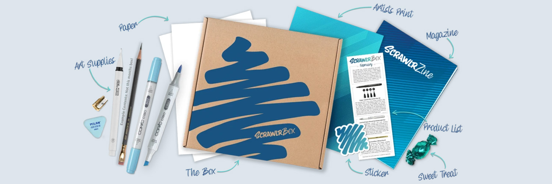 Scrawlrbox: inhoud van de doos
