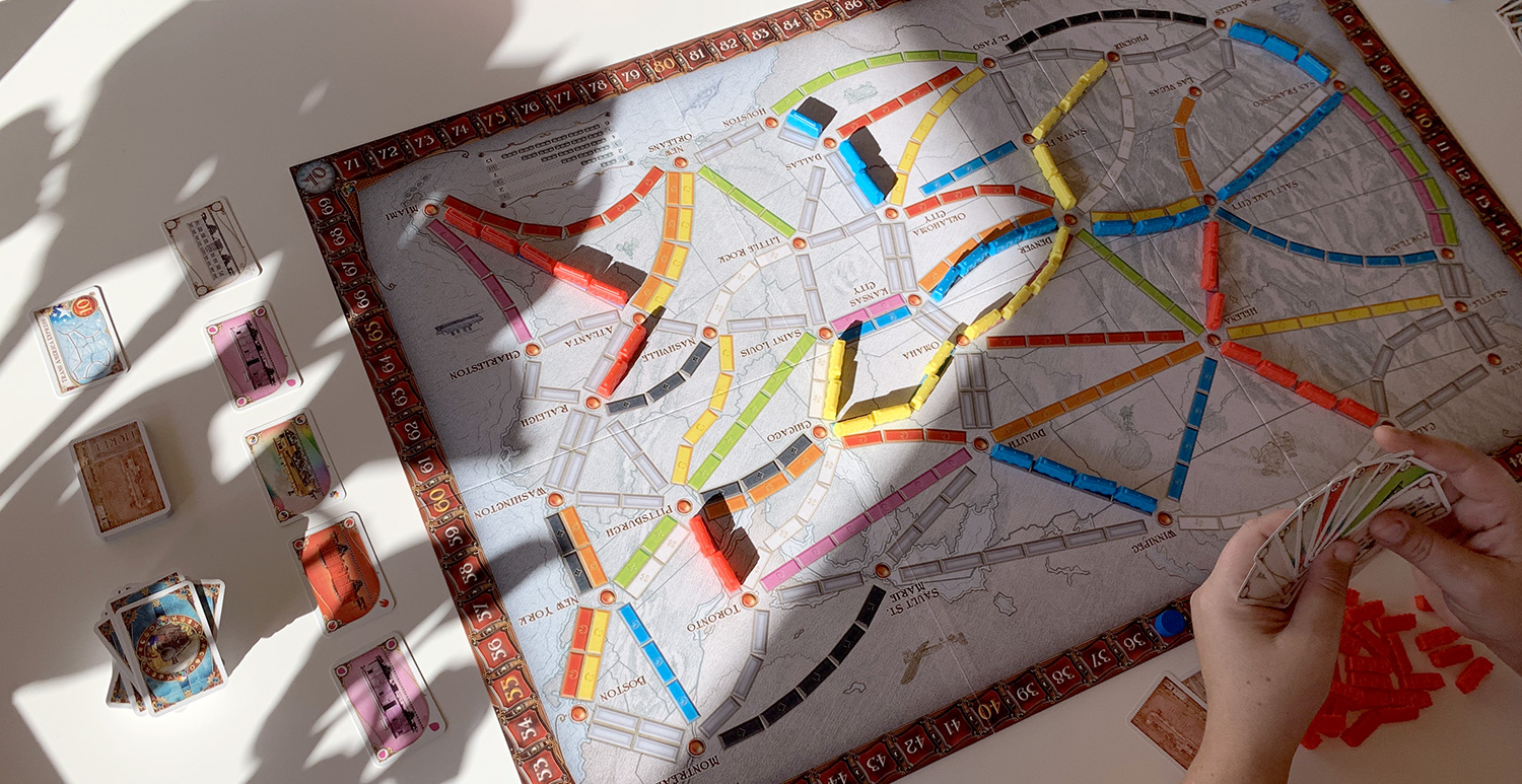 Overzicht spelbord Ticket to Ride USA